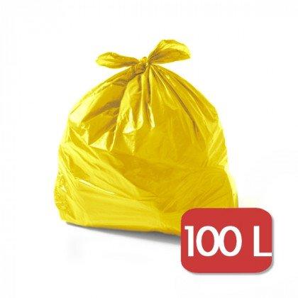 Saco para Lixo – 100 Litros - Amarelo